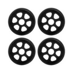 Razors Antirocker Aggressive Skate Wheels - 4 Pack, Black, 256