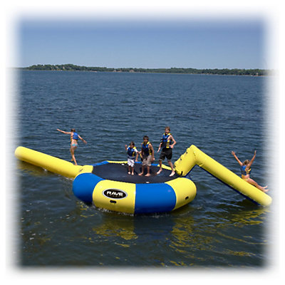 Rave Bongo 13 Foot Bounce Platform Water Park, , viewer
