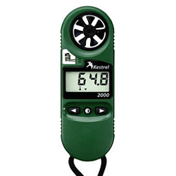 Kestrel 2000 Pocket Thermo Wind Meter, Green, 256