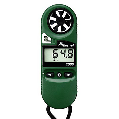 Kestrel 2000 Pocket Thermo Wind Meter, Green, viewer