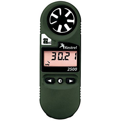 Kestrel 2500NV Pocket Weather Meter, Olive Drab, viewer
