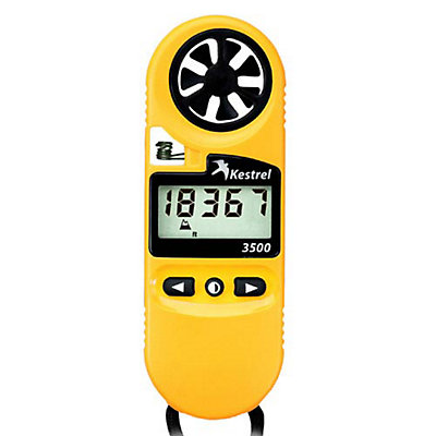 Kestrel 3500 Pocket Weather Meter, Yellow, viewer