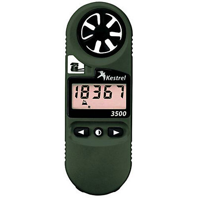 Kestrel 3500NV Pocket Weather Meter, Olive Drab, viewer