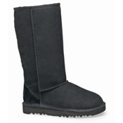 UGG Australia Classic Tall Girls Boots, Black, medium