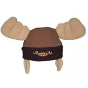 Mental Moose Head Hat, Brown, medium