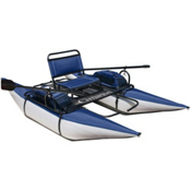 Classic Accessories The Cimarron Inflatable Pontoon Boat, Royal Blue Silver, medium