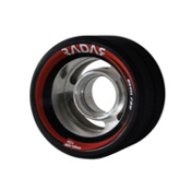 Radar Devil Ray Roller Skate Wheels - 4 Pack, Black, medium