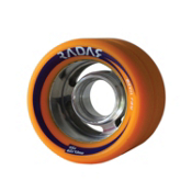 Radar Devil Ray Roller Skate Wheels - 4 Pack, Orange, medium