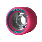 Radar Devil Ray Roller Skate Wheels - 4 Pack 2014, Pink, medium