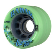Radar Tuner Roller Skate Wheels - 4 Pack, Green, medium