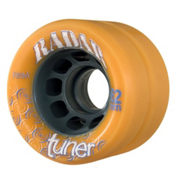 Radar Tuner Roller Skate Wheels - 4 Pack, Orange, medium