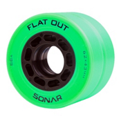 Radar Flat Out Roller Skate Wheels - 4 Pack, Green, medium