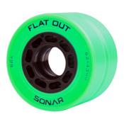 Riedell Flat Out Roller Skate Wheels - 4 Pack, Green, medium