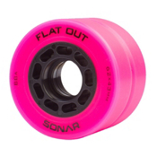Radar Flat Out Roller Skate Wheels - 4 Pack, Pink, medium