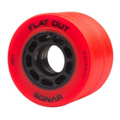 Riedell Flat Out Roller Skate Wheels - 4 Pack, Red, medium