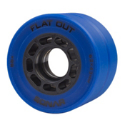 Riedell Flat Out Roller Skate Wheels - 4 Pack, Blue, medium