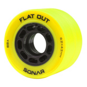 Riedell Flat Out Roller Skate Wheels - 4 Pack, Yellow, medium