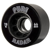 Radar Pure Roller Skate Wheels - 4 Pack, Black, medium
