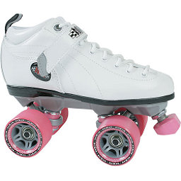 Sure Grip International Boxer Womens Speed Roller Skates, Boot:White Frame:Gray Wheels:Pink, 256