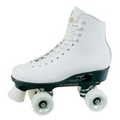 Dominion Patriot Womens Artistic Roller Skates 2013, White, medium