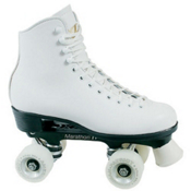 Dominion Patriot Womens Artistic Roller Skates, White, medium