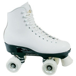 Dominion Patriot Womens Artistic Roller Skates, White, 256