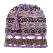 Turtle Fur Lady Fairisle Hat, Wisteria, medium