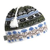 Turtle Fur Lady Fairisle Hat, White, medium