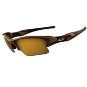 Oakley Polarized Flak Jacket XLJ Sunglasses, Rootbeer, medium