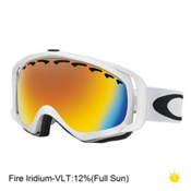 Oakley Crowbar Goggles, Matte White-Fire, medium
