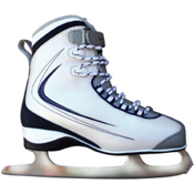 Lake Placid Supreme 694 Soft Boot Womens Figure Ice Skates, Silver-Blue-Grey, medium