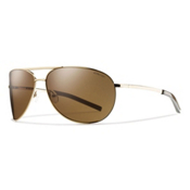 Smith Serpico Polarized Sunglasses, Gold-Polarized Gold Gradient, medium