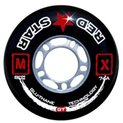 Red Star MX GT Inline Hockey Skate Wheels - 4 Pack, , medium