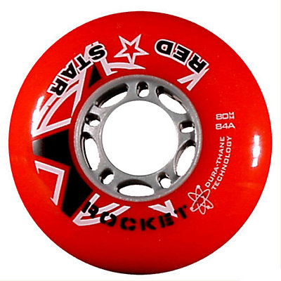 Red Star Red Rocket 84A Inline Hockey Skate Wheels - 4 Pack, Red, viewer