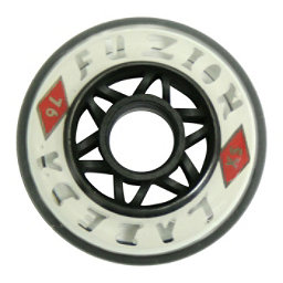 Labeda Fuzion X-Soft Inline Hockey Skate Wheels - 4 Pack, Clear-White, 256