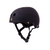 Triple 8 Brainsaver with EPS Liner Mens Skate Helmet, Black Rubber, medium