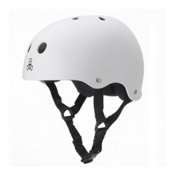 Triple 8 Brainsaver with EPS Liner Mens Skate Helmet, White Rubber, medium