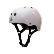 Triple 8 Brainsaver with EPS Liner Mens Skate Helmet, White Gloss, medium