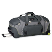 High Sierra AT3 Sierra-Lite 32-Inch Wheeled Duffel Bag, Graphite-Titanium-Spring, medium