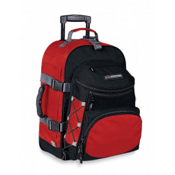 High Sierra A.T. Gear Classic 22-Inch Wheeled Carry-On Bag, Fire Red-Black, medium