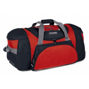 High Sierra A.T. Gear Classic 26-Inch Wheeled Duffel Bag, Fire Red-Black, medium