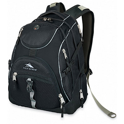 High Sierra Access Daypack, Black, viewer