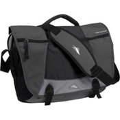 High Sierra Tank Messenger Day Bag, Charcoal-Black-Silver, medium