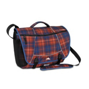 High Sierra Tank Messenger Day Bag, Flannel Plaid-Black, medium