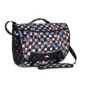 High Sierra Tank Messenger Day Bag, Grunge Checker-Black, medium