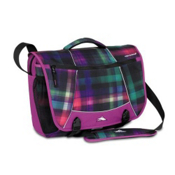 High Sierra Tank Messenger Day Bag, Whimsy Plaid-Plum, medium