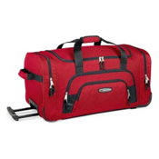 High Sierra 26-Inch Wheeled Duffel Bag, Red, medium