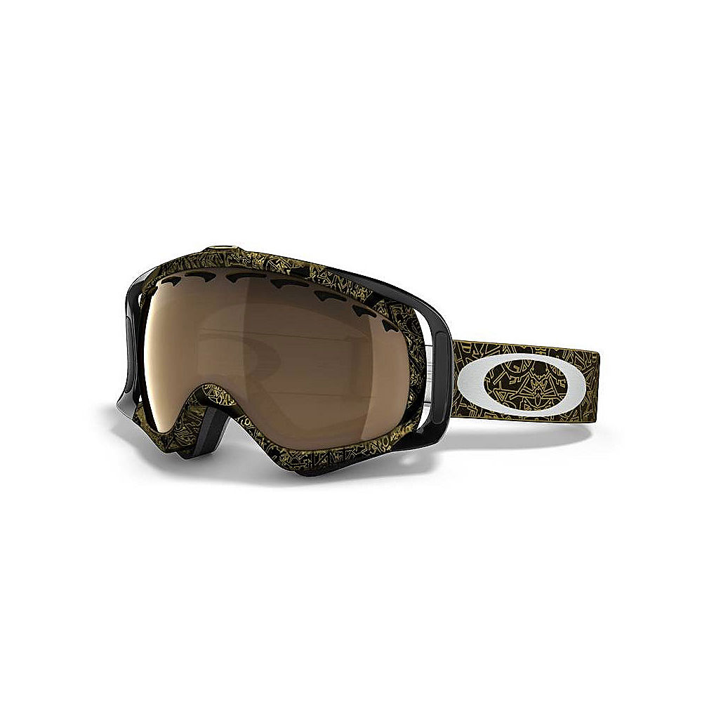 b41bebd34026 Oakley Crowbar Snow Goggles Jet Black Ghost Text Gold Iridium Lens New No  Box