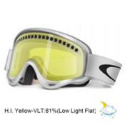Oakley XS O Frame Kids Goggles 2013, Matte White-H.i. Yellow, medium