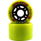 Sure Grip International Zoom Roller Skate Wheels - 8 Pack, Yellow, medium
